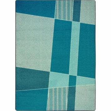 Joy Carpets Spazz Area Rug Teal 7-ft 8-in 10-ft 9-in