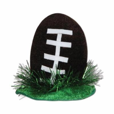 Club Pack of 12 Black, White and Green Football Hair Clip Party Favor Costume Accessories