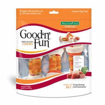 Healthy Hide Good 'n' Fun Chews Dog Treats, 3-Count