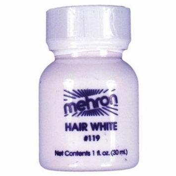 MorrisCostumes DD232 Hair White 1 Oz. Plastic Bottle