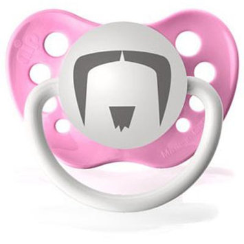 Personalized Pacifiers The Fu Manchu Mustache in Pink