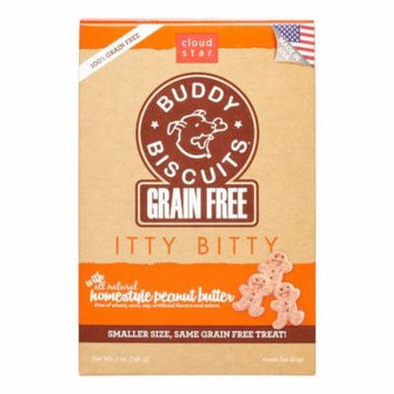 Cloud Star Buddy Biscuits Itty Bitty Grain-Free Homestyle Peanut Butter Dog Treats, 7 Oz