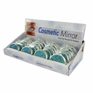 Glittering Compact Mirror Display - Set of 24