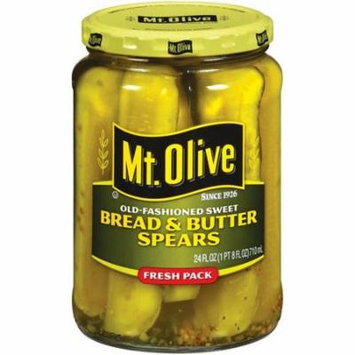 Mt. Olive Pickle Spears, Bread & Butter, 24 Fl Oz