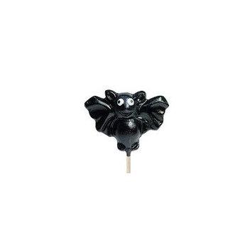 Black Bat Shaped Lollipop: 24 Count