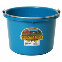 Miller Manufacturing 8qt Teal Plastic Buckets