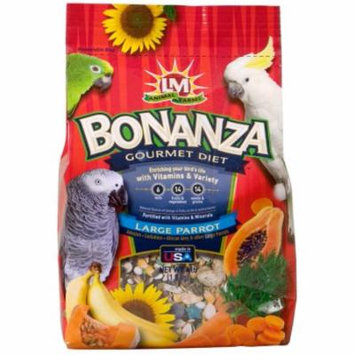 LM Animal Farms Bonanza Gourmet Diet Parrot Bird Food, Large, 4 lb