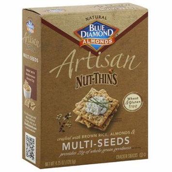 Blue Diamond Almonds Artisan Nut-Thins Multi-Seeds Cracker Snacks, 4.25 oz, (Pack of 12)