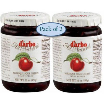 D'arbo All Natural Marasque Sour Cherry Fruit Spread, 16-Ounce Jar (Pack of 2)