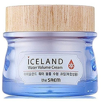 [the SAEM] Iceland Water Volume Cream (For Combination Skin) 2.71 fl.oz. (80ml) - Snow Drop Texture Oil and Water Balance Cream, Intense Hydration with Iceland Mineral Water and Hyaluronic Acid: Beauty