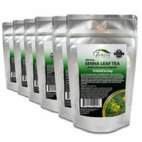 Senna Tea 6-Pack 180 Bags 100% Pure, All-Natural, Herbal Laxative/Cleanser