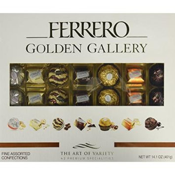 Ferrero Golden Gallery Fine Chocolate Assortment Collection (Pack of 42)