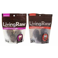 Living Raw Organic Raw Fair Trade Gluten Free Chocolate Truffles 2 Flavor Variety Bundle: (1) Living Raw Darkest Cacao Truffles, and (1) Living Raw Kickin' Cayenne Truffles, 1.64 Oz. Ea.
