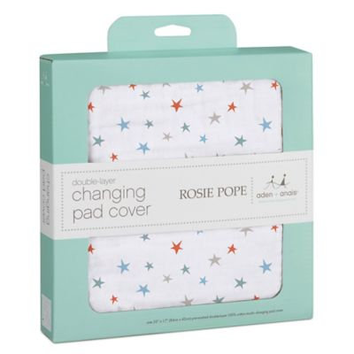 Rosie Pope and aden + anais 100% Cotton Muslin Changing Pad Cover