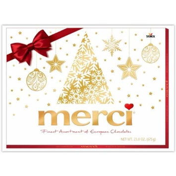 Merci Christmas Finest Assortment of European Chocolates. 675grams / 23.8 ounce Value pack. 54 pieces of individually wrapped Fine European Chocolates