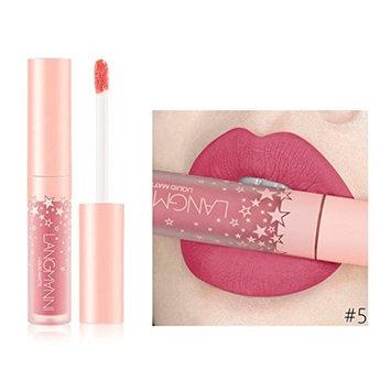 Jinjin Fashion Matte Lipstick-Liquid Waterproof Lasting Non-stick Cup Lip Gloss,12 color available