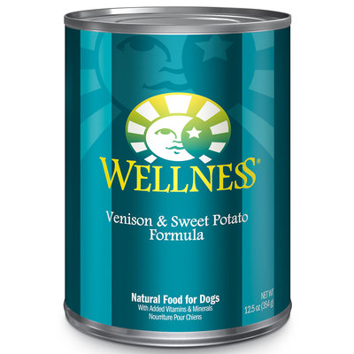Wellness Canned Dog Venison & Potato 12.5 oz Case 12
