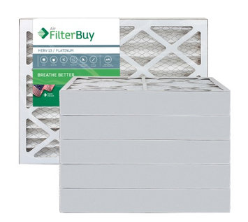 AFB Platinum MERV 13 18x18x4 Pleated AC Furnace Air Filter. Filters. 100% produced in the USA. (Pack of 6)