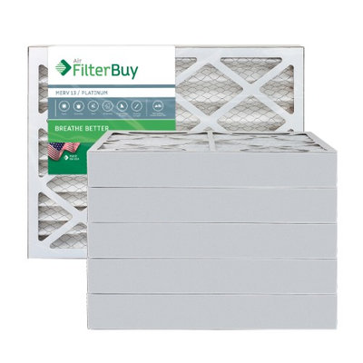 AFB Platinum MERV 13 12.5x21x4 Pleated AC Furnace Air Filter. Filters. 100% produced in the USA. (Pack of 6)