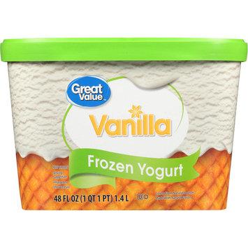 Great Value Vanilla Frozen Yogurt, 48 oz