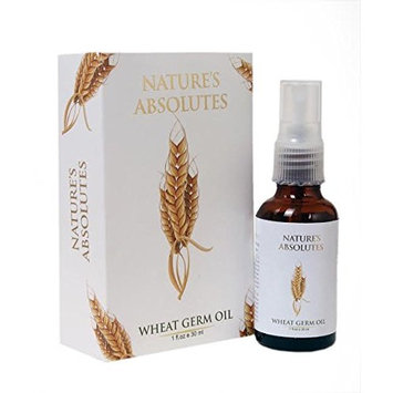 Nature's Absolutes Wheat Germ Pure Carrier Oil - 1Oz/30 ml, 100% Pure,Organic & Coldpressed For Hair and Skin