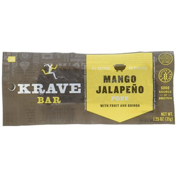 KRAVE Pork Meat Bars, Mango Jalapeno, 1.25-Ounce Bars (Count of 12)