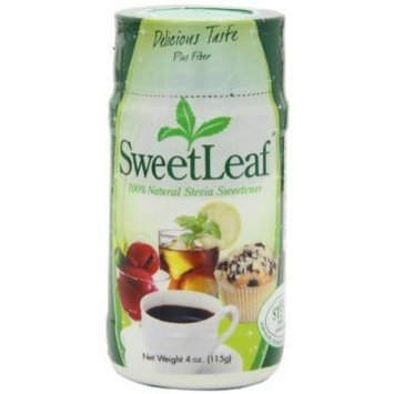 SweetLeaf Stevia Powder, 4-Ounce Shaker Jars (Pack of 4)