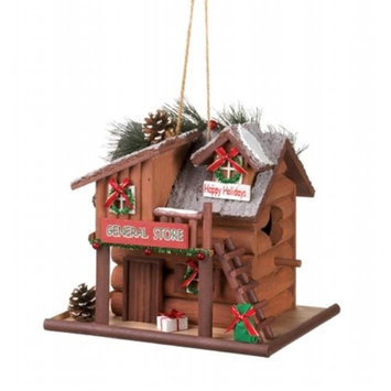 Zingz & Thingz 57071317 Happy Holidays General Store Birdhouse