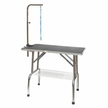 Go Pet Club Heavy Duty Stainless Steel Pet Dog Grooming Table with Arm