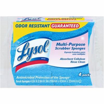 Lysol Multi-Purpose Cellulose Scrub Sponges, 4 count