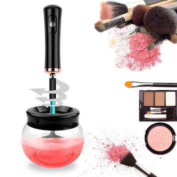 Electric Brush Cleaner,Henscoqi 360 Degree Rolation Quickly and Deeply Clean & Dry Makeup Brush Cleaner Spinner with 8 Rubber Collars Suit for Multi-size Brushes