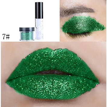 Dragon Ranee Shimmer Glitter Lip Gloss Powder Palette Glitter Lipstick Cosmetic Eye Shadow by DMZing (LE-07)