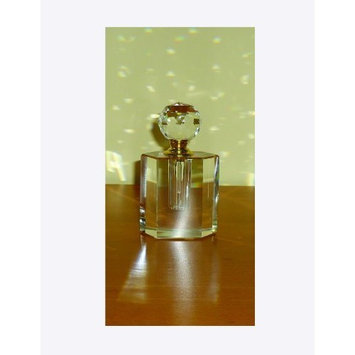 StealStreet SS-GC-CC-105 Clear K9 Crystal Oval Perfume Bottle with Matching Top Fragrance Decor