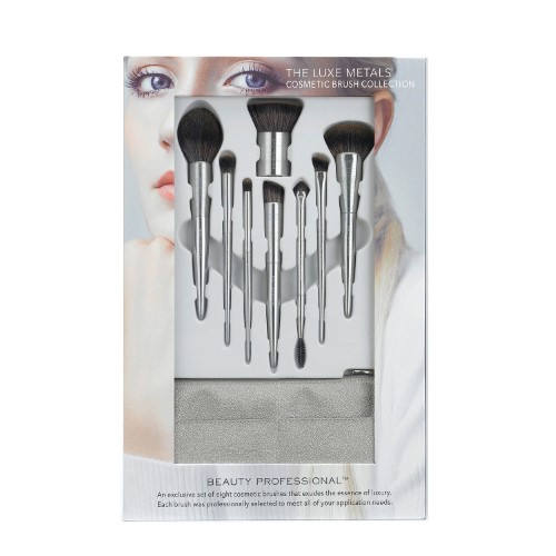 Beauty Professional Luxe Metals Cosmetic Brush Collection