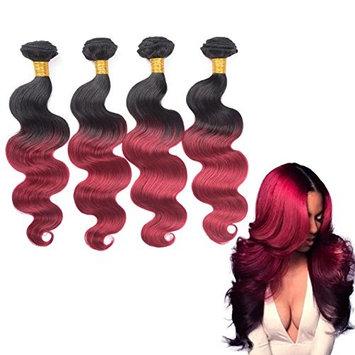 Nifty Girl Brazilian Ombre Virgin Hair Body Wave Weft 4 Bundles 200g 100% Human Hair Extensions Ombre 1B/Burg (12