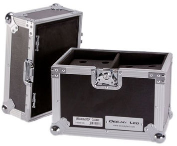 Deejay Led Fly Drive Case For Twelve Handheld Microphones W/Storage Compartment Or Similarly Sized Equipment W/Wheels