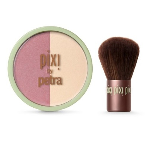 Pixi By Petra Beauty Blush Duo 0.36 oz Rose Gold + Kabuki
