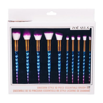 Zoe Ayla Unicorn Style 10 Piece Essentials Brush Set - Blue