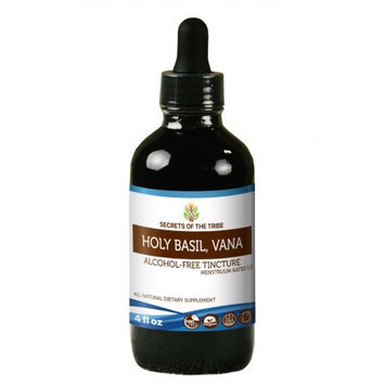 Nevada Pharm Holy Basil Tincture Alcohol-FREE Extract, Organic Holy Basil (Ocimum Tenuiflorum) Dried Herb 4 oz