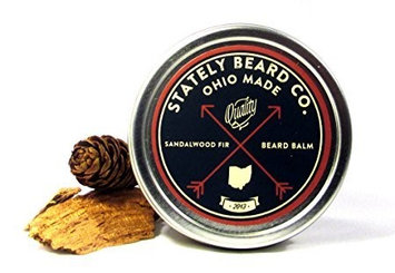 Stately Beard Co. - Sandalwood Fir Beard Balm - All Natural and Organic, 2oz