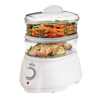 Rival CKRVSTLM21 Double Stack Instant Steam Vegetable Steamer