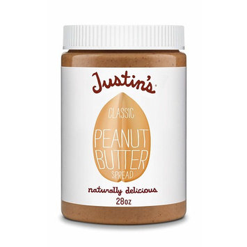 Classic Peanut Butter by Justin's, Only Two Ingredients, No Stir, Gluten-free, Non-GMO, Responsibly Sourced, 28oz Jar
