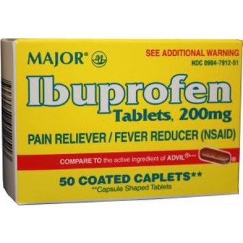 Major Ibuprophen-200mg /50 caplets Compare to ADVIL caplets