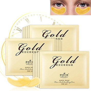 20 Pairs Eye Mask, Deluxe Firming Eye Mask Gold Pads for Women Hydrating Eye Patches with Anti-aging and Fade Fine Lines/Help Reduce Dark Circles and Moisturizer