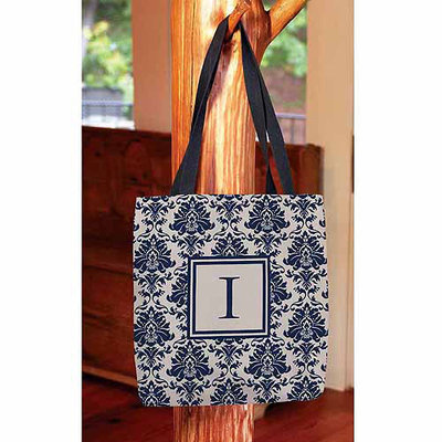 Thumbprintz - Damask Monogram Tote Bag