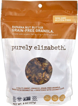 Purely Elizabeth Grain-Free Granola Gluten Free Banana Nut Butter - 8 oz pack of 12