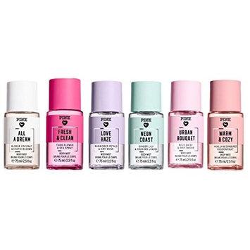 Victoria's Secret PINK (6) Mini Body Mist: All A Dream, Fresh & Clean, Love Haze, Neon Coast, Urban Bouquet, Warm & Cozy