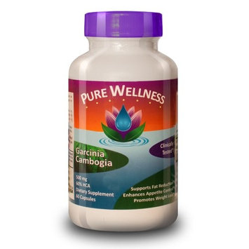 Pure Wellness, Garcinia Cambogia, 500mg, 60% HCA, 60 Capsules, #1 Best Selling Weight Loss Formula As Recommended by Doctors