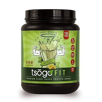 Tsogo Fit Protein Powder w/ 20 Grams of Plant Based Protein/Serving, Honey Flavor, Soy, Gluten and Dairy Free, High Fiber, Low Carb, Only 150 Calories/Serving (1 Tub, 20 Servings, 26.8oz 760g)