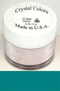 Sugarpaste Crystal Color Powder Food Coloring One Jar of 2.75 Grams - Teal